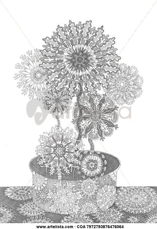 Dibujo blanco y negro: Naturaleza Sergiy Pivnyuk - Artelista.com