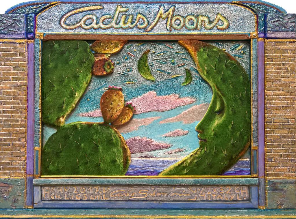 lunas de cacto  ( enmarcado, efecto 3d )