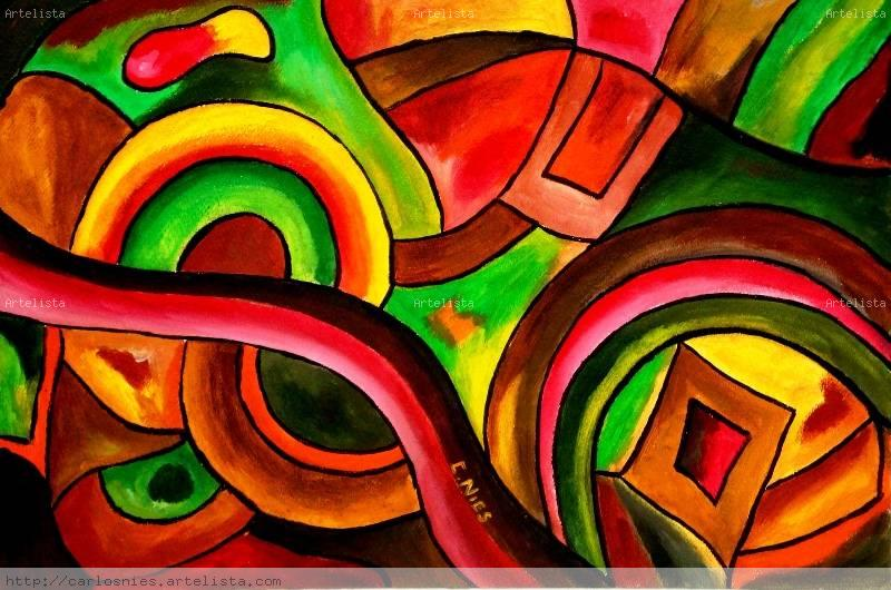 pinturas abstractas geometricas imagui