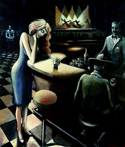 Resultado de imagen para mujer en el bar