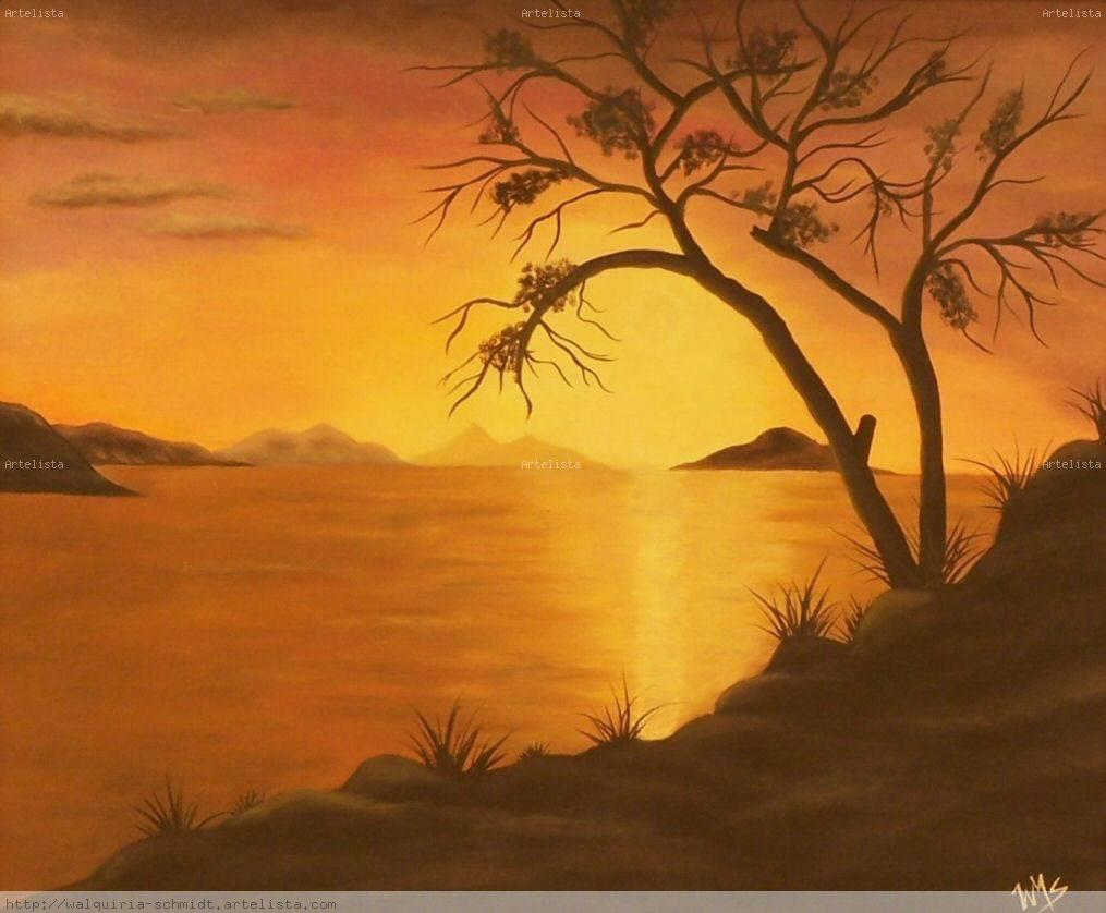 Calido amanecer walquiria schmidt - Paisaje con colores calidos ...
