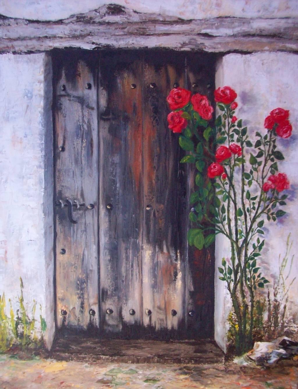 Oleo puerta emilia pablo esteban for Pintura de tiza para puertas
