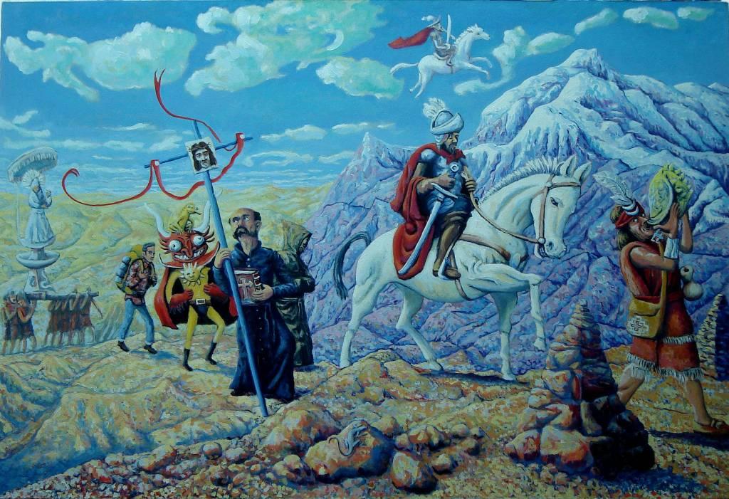 La conquista de santiago de la nueva extremadura javier for Caracteristicas de un mural