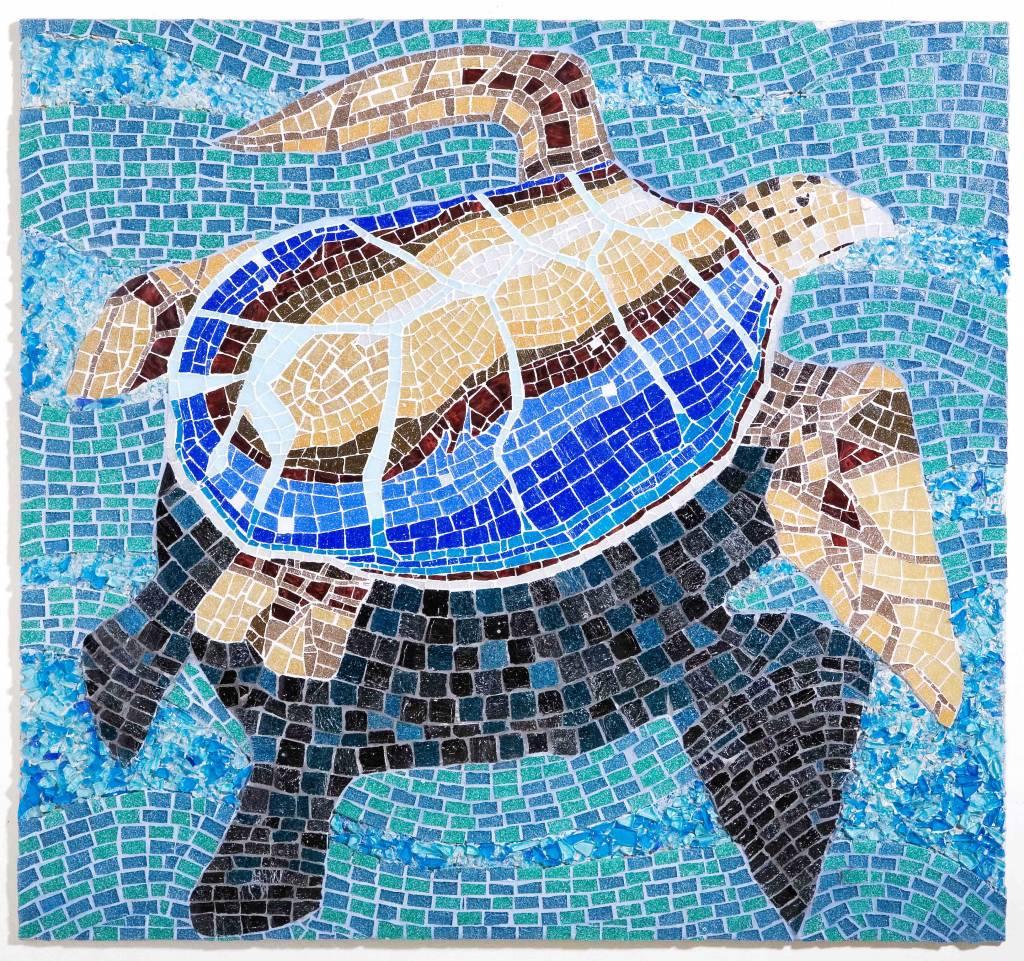 Mosaico de rapa nui carolina fernandez larrain for Mosaico ceramica