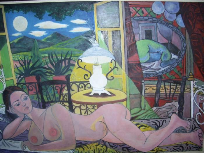 Nocturno del desnudo. 1954. Rafael Zabaleta.