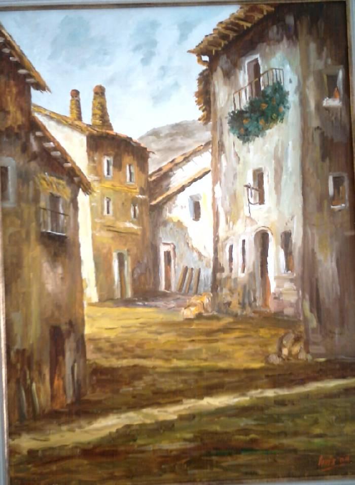 Casas viejas luis malet guillot - Casas viejas al oleo ...