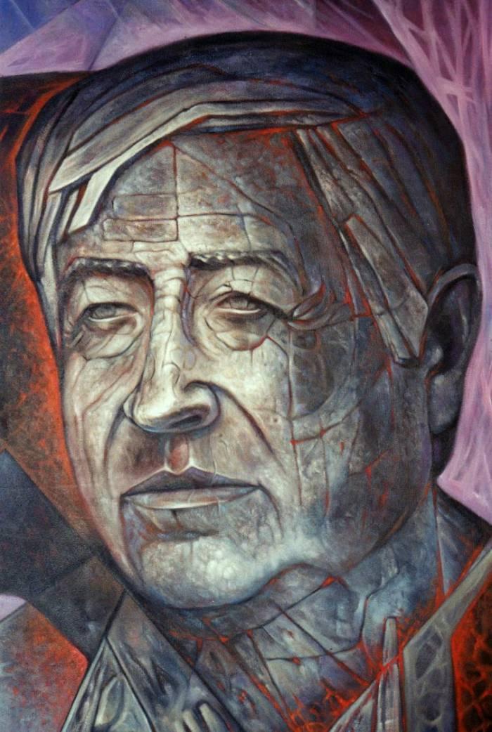 Mural c sar chavez detalle carlos ordu a barrera for Cesar chavez mural