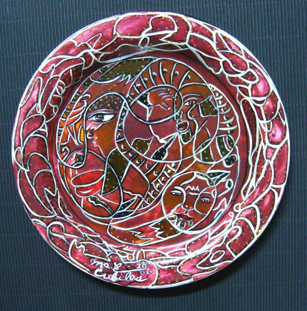 Plato cer mica 5 mae cubiles - Platos ceramica colores ...