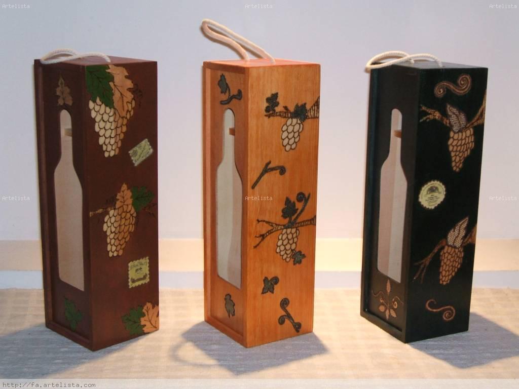 Cajas de vino f tima molina - Cajas de vino de madera decoradas ...