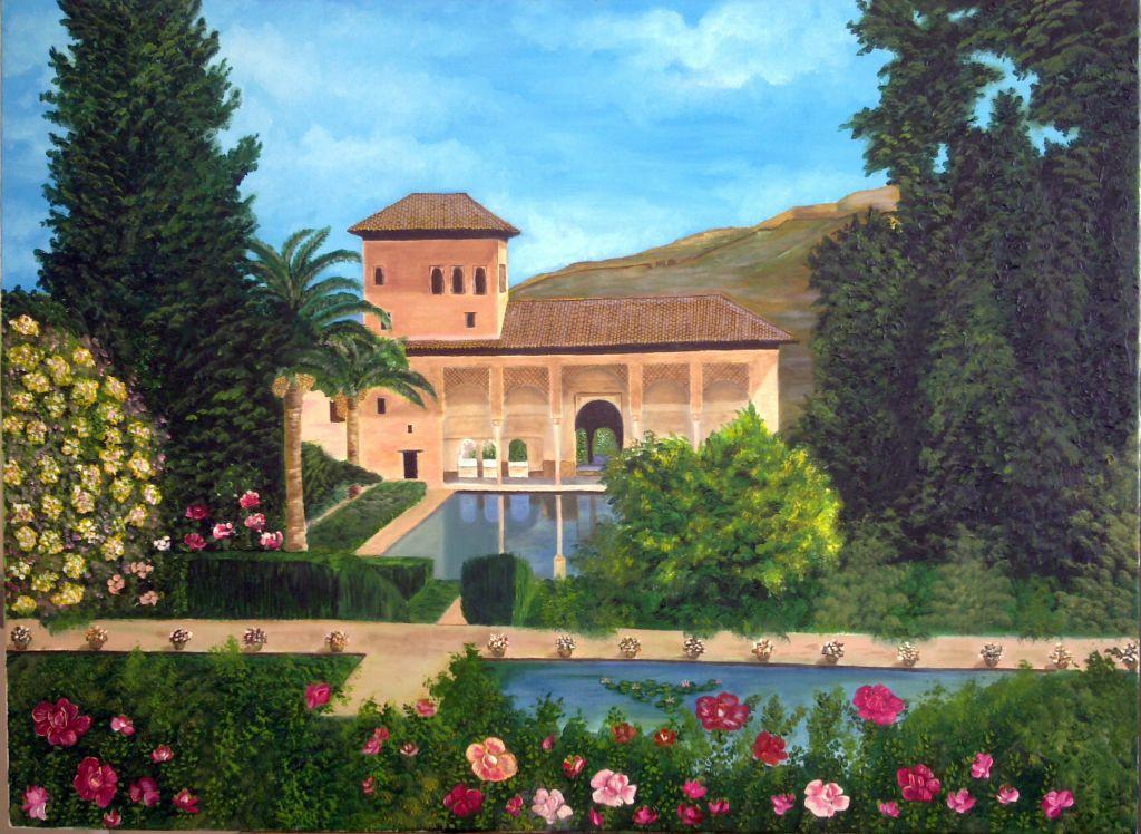 Jardines del partal alhambra francisco fuentes for Jardines de gomerez granada