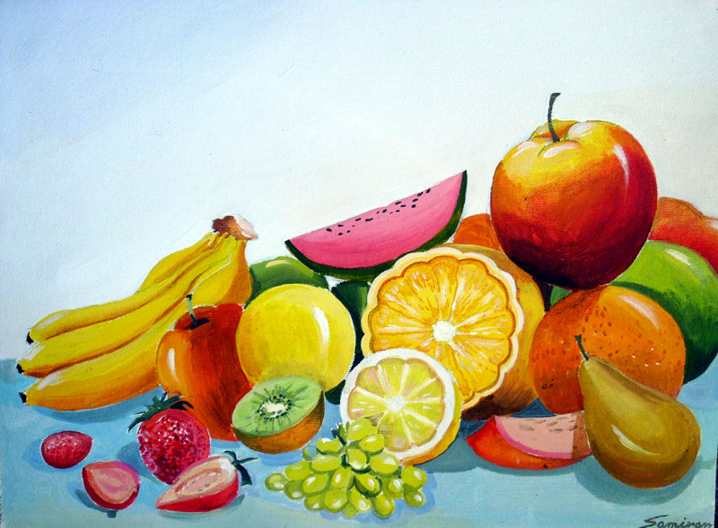 Colourful Fruit Composition Iii Samiran Sarkar Artelista Com
