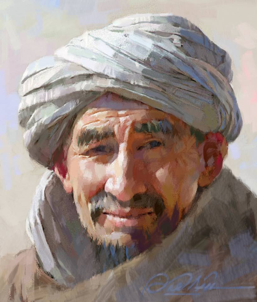 Different smile shahin aldhahir for Portrait painting tutorial