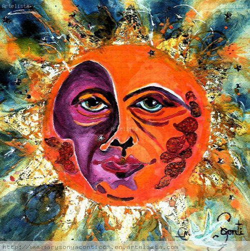 Sun Art For The CBS Sunday Morning Show Mary-Sonya Conti