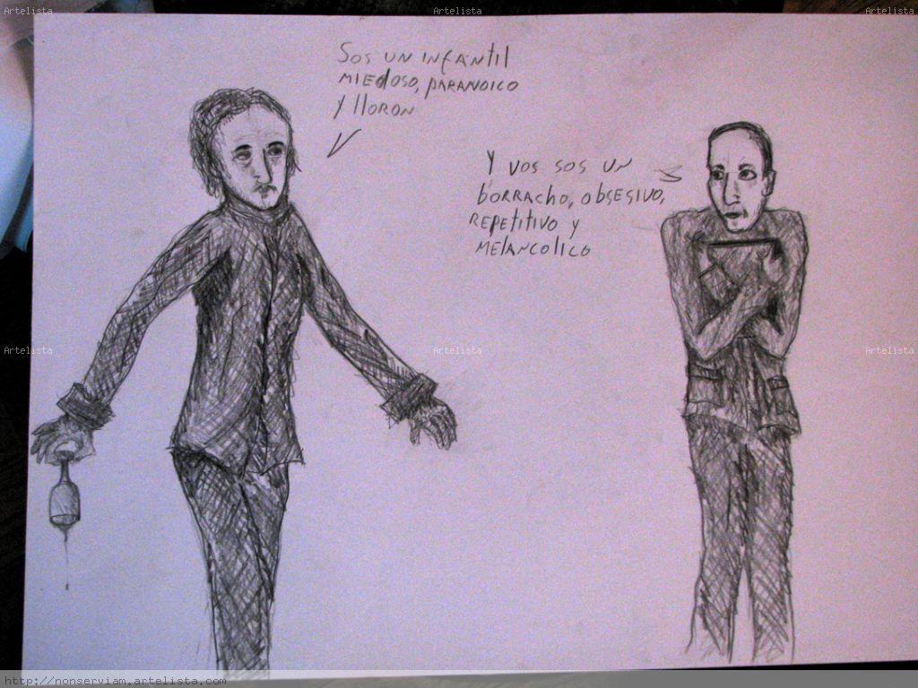 Edgar Allan Poe y H P Lovecraft se baten a duelo Martin