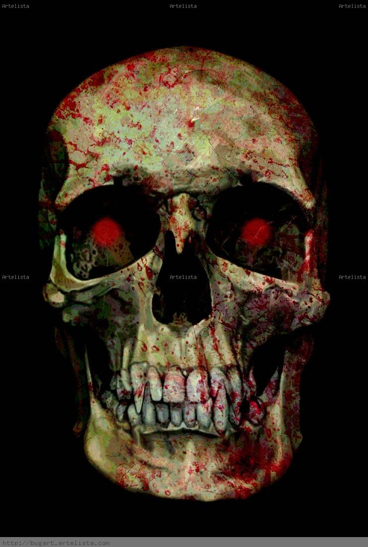 bloody skull wallpaper related - photo #32