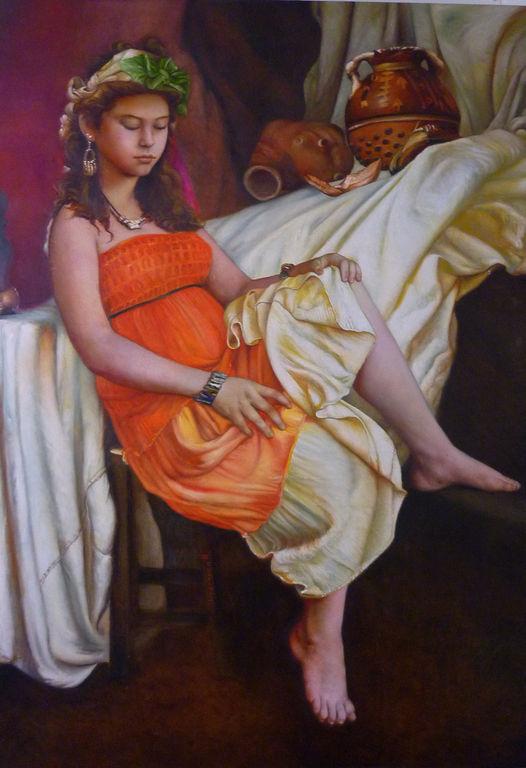 joven con huaco peruano
