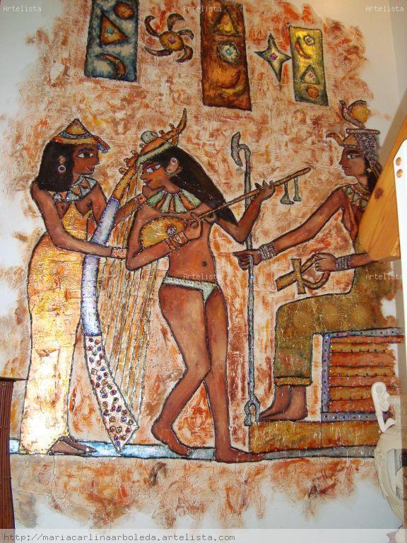 Mural egipcio mariacarlinaa arboleda arbelaez for Mural egipcio