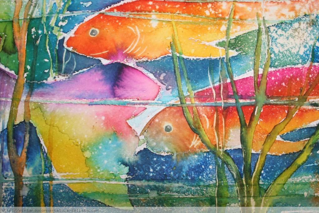Peces de colores marta lucia velez moreno for Cuadros de peces