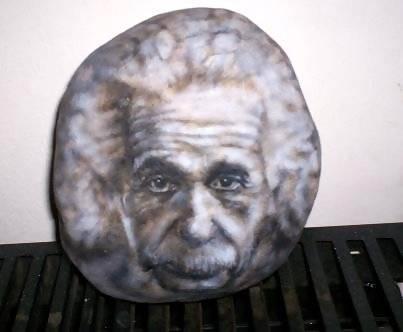 Albert Einstein in Stone -Einstein en Piedra Javier Fiore Acrílico Otros Retrato - 4871755749202275
