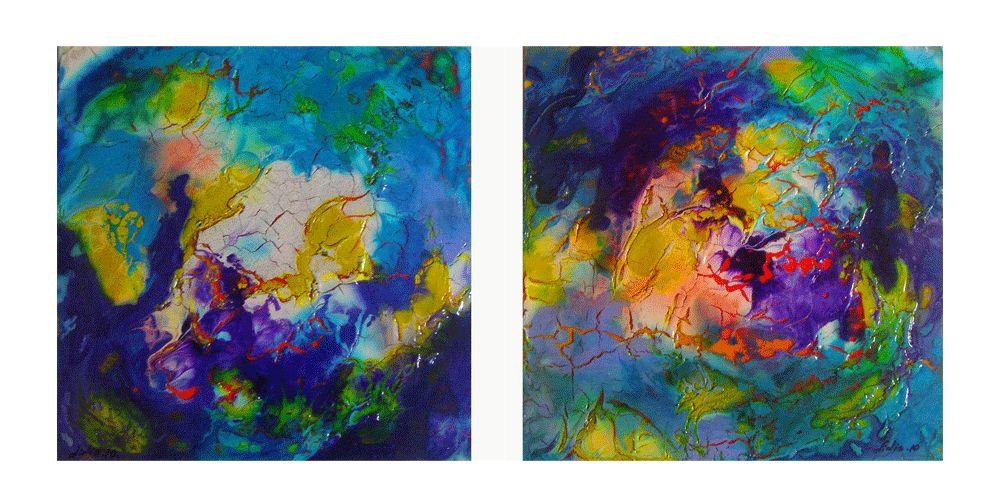 pintura abstracta-el paso lidia stef - Artelista.