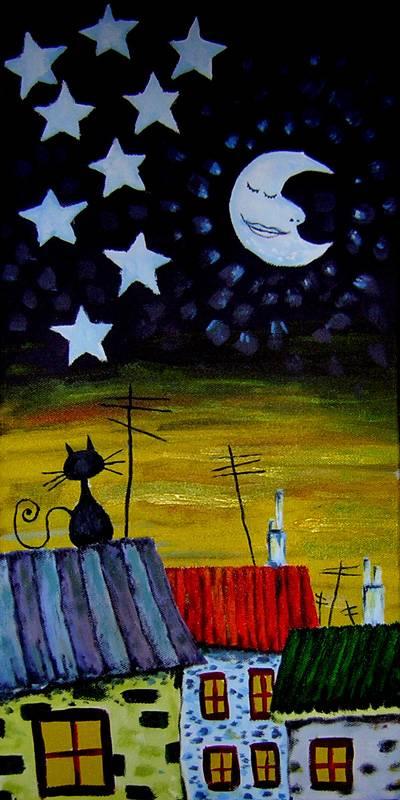 A la luna se le ve el ombligo fran carras for Cuadros infantiles al oleo