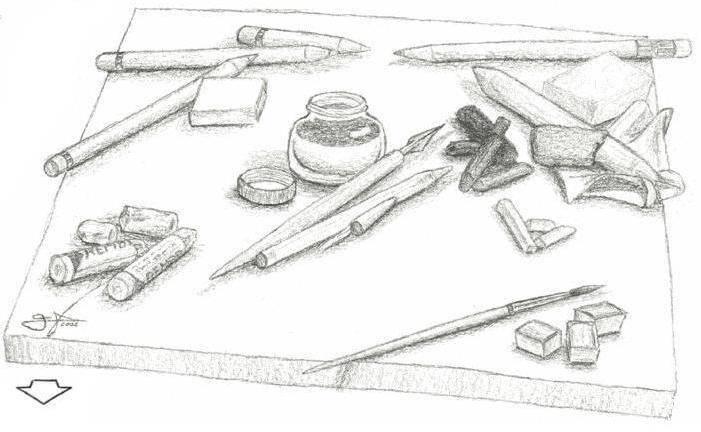 Materiales de dibujo y pintura 1 marcos v zquez gonz lez for Marcos para pinturas