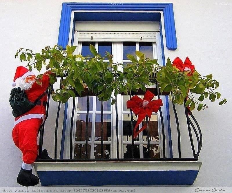 Balc n navide o carmen oca a for Decoracion de balcones navidenos