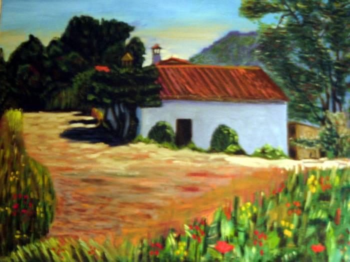 Casa de campo antonio gonzalez crespo - Cuadros de casas de campo ...