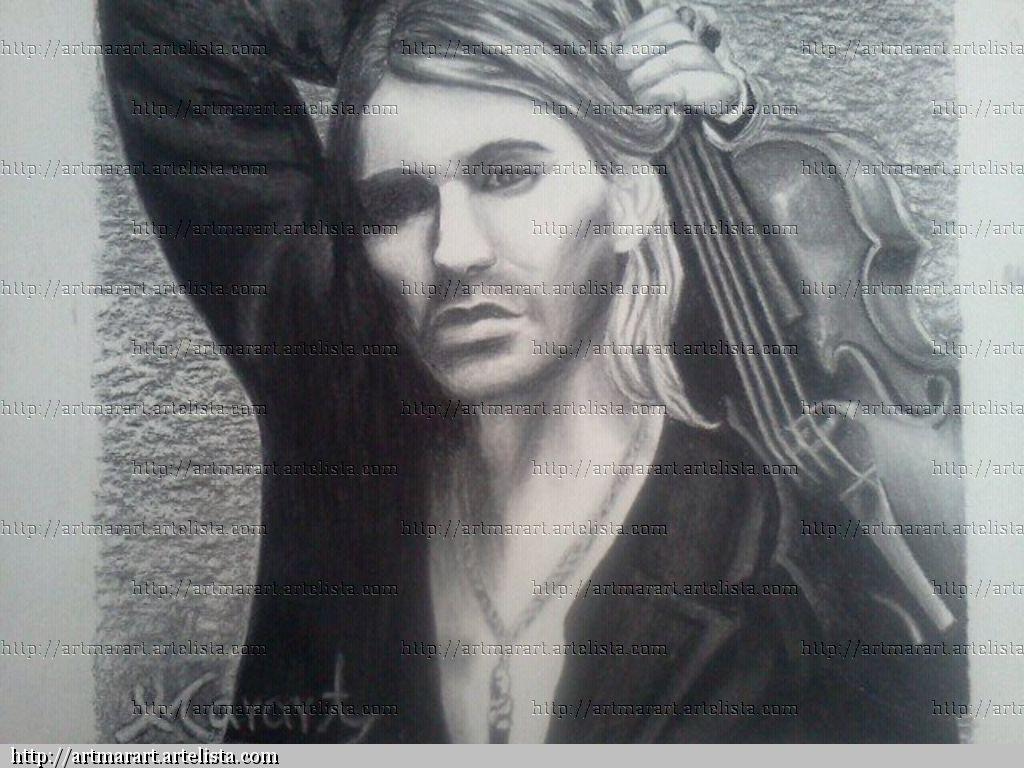 Pintura Carboncillo David Garrett Marart Art