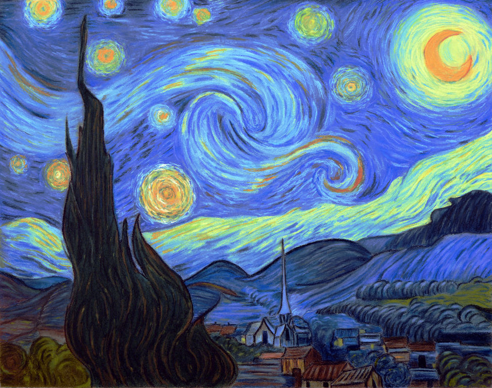 Noche estrellada. Van Gogh. Interpretación. Starry Night. Van GoghCanvasCanvas with frameFree and easy returnsFree and safe deliveryCustomer carePrints information