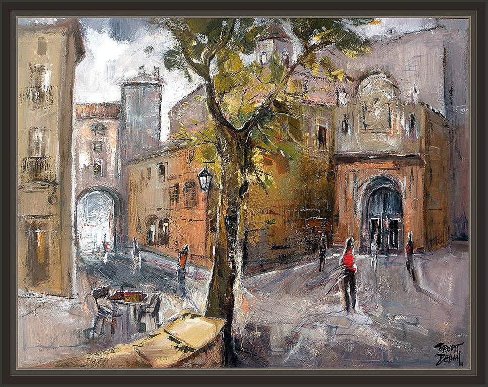 Solsona lleida lerida catedral arte pintura pinturas cuadros paisajes pintor ernest descals - Pintores de barcelona ...