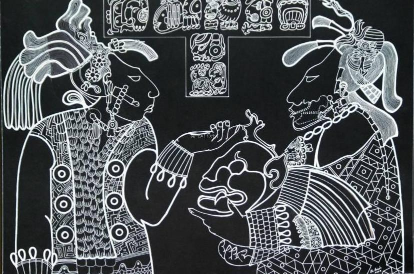 Sacerdotes Mayas En Ritual Del Jaguar Alejandro Ale Moises