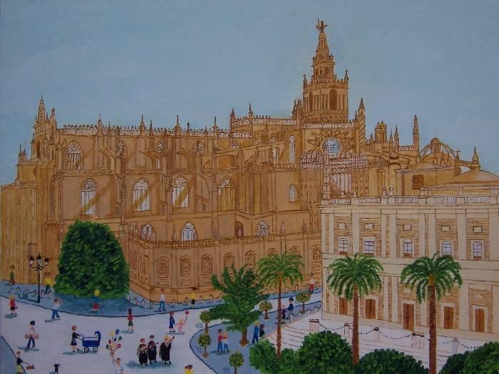 Catedral y giralda de sevilla tessa domene moris for Todo pintura sevilla