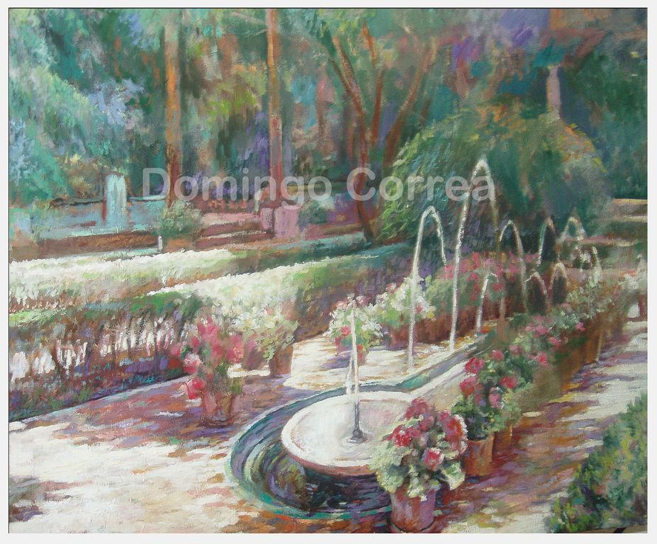 Jardines de la casa de sorolla madrid domingo correa - Oleos de jardines ...