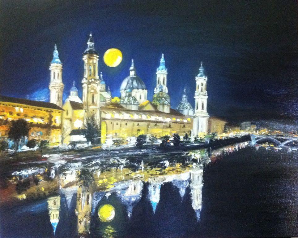 Basilica del Pilar por la noche Helen Bellart - Artelista.com