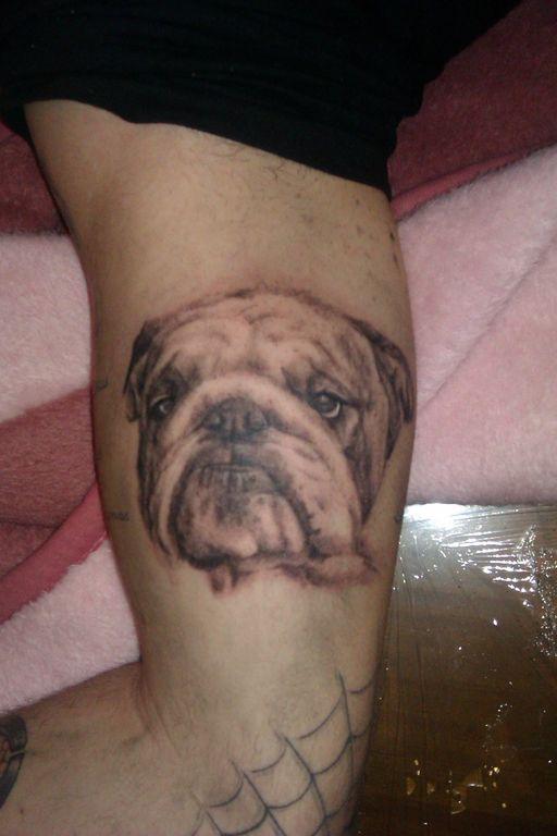 Tatuaje Alejandro tatuaje perro alejandro pérez morilla - artelista