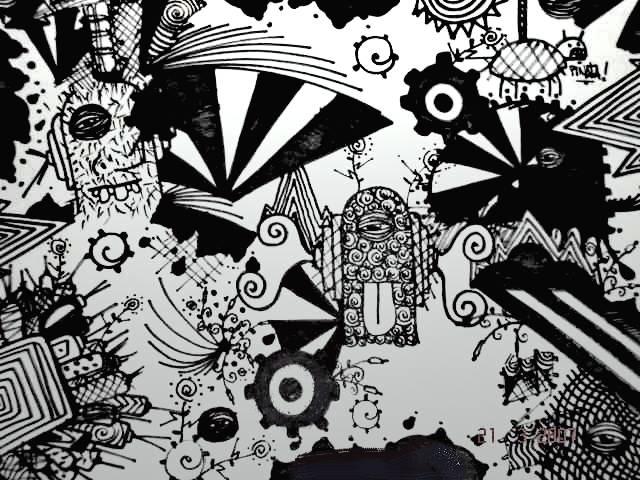 Dibujos modernos en blanco y negro - Imagui