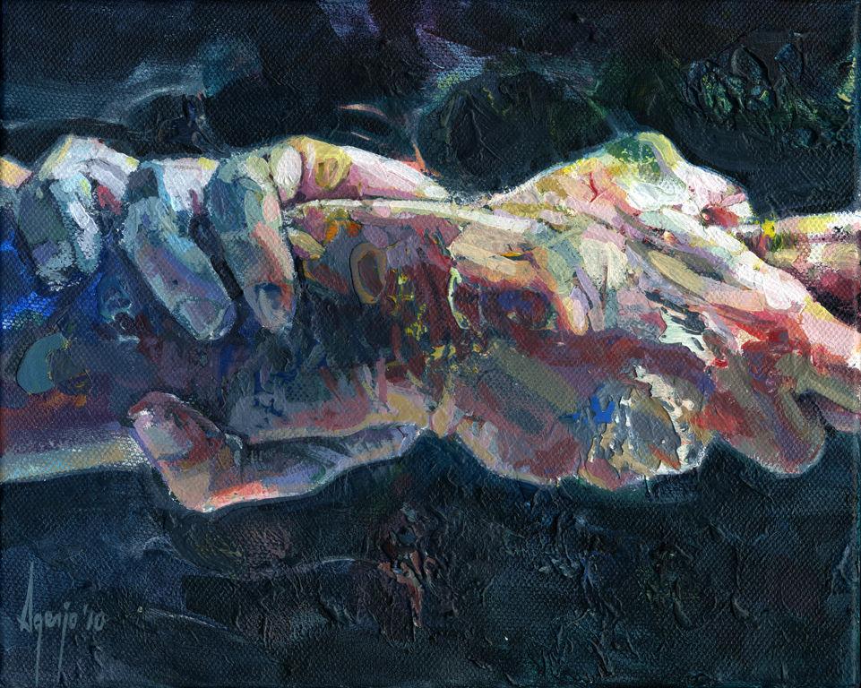 Hands on ll david agenjo en for Hand painting art