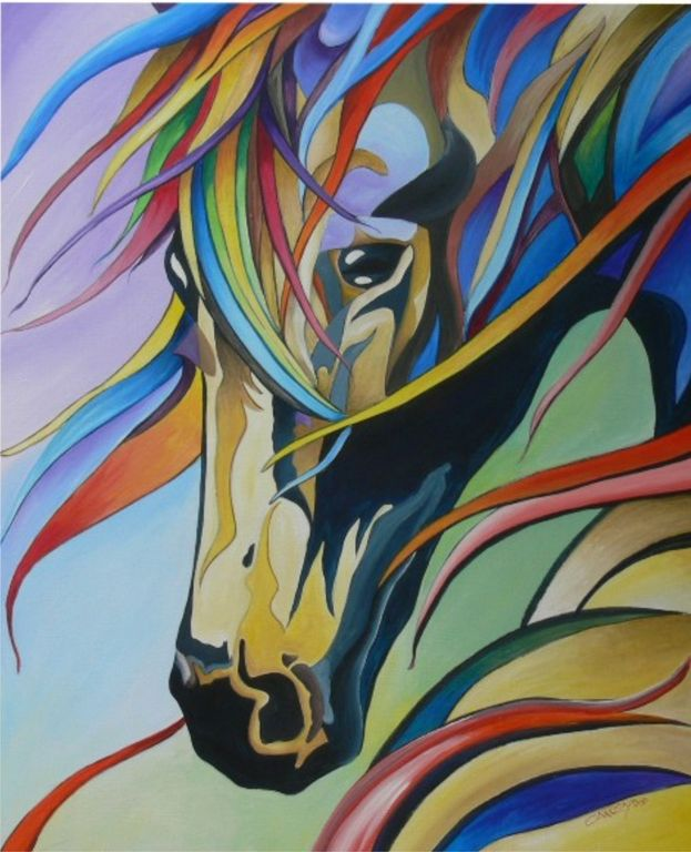 Cabeza de caballo mauro eliseo carri n novoa for Imagenes de cuadros abstractos grandes