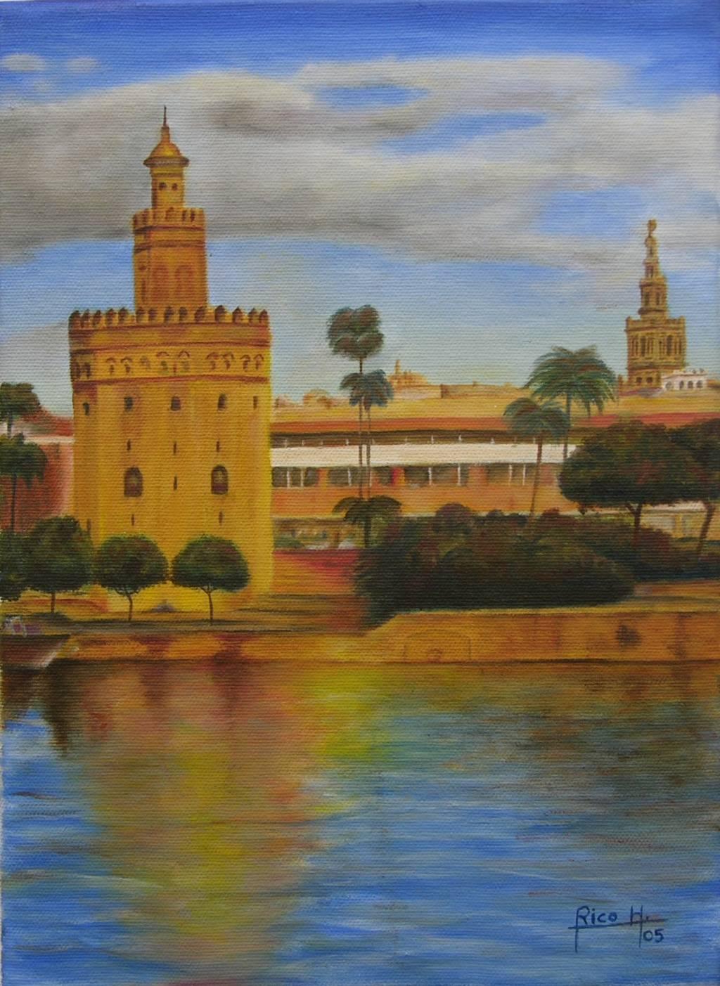 Torre del oro sevilla benito rico hidalgo for Todo pintura sevilla