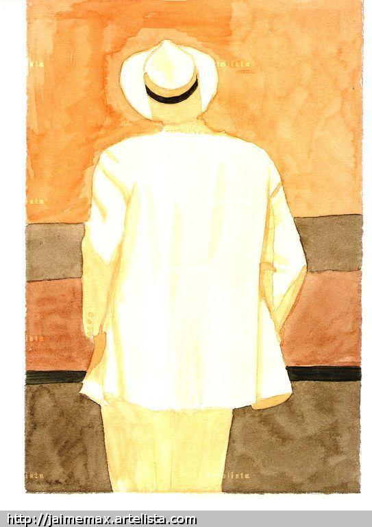 Hombre con sombrero. Jaime - Max Magariños Sánchez - Artelista.com 75a578ce97d