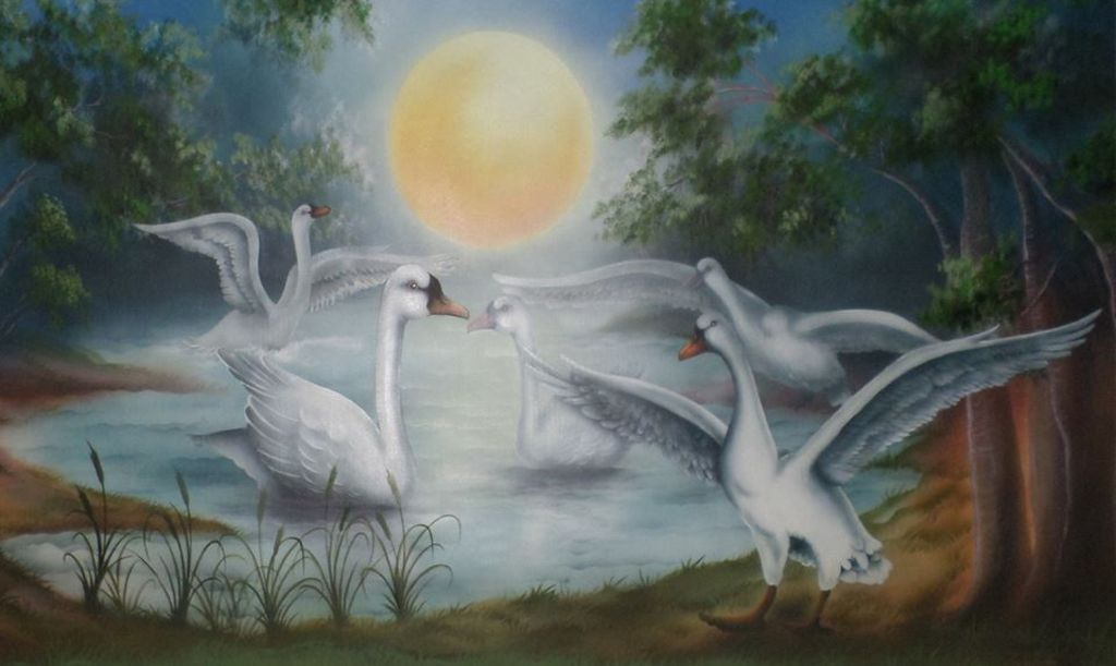 Cisnes Gansos Del ártico Joel Lacerda Da Silva Artelistacom