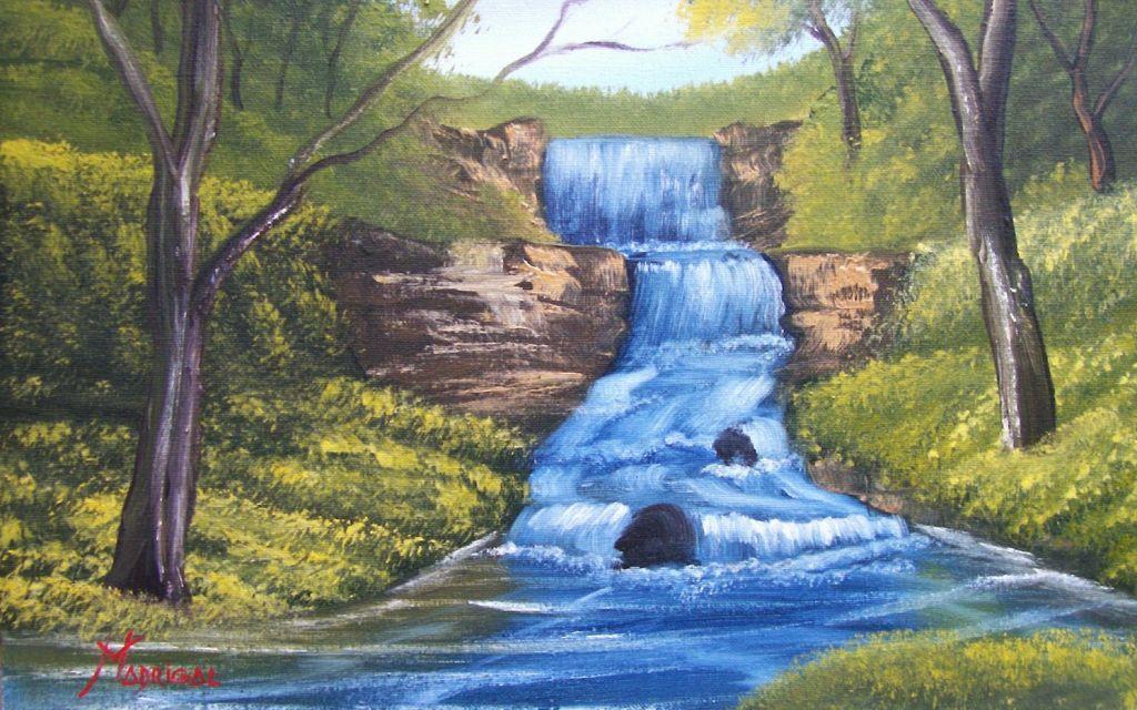 Cascada azul Jesus Anibal Madrigal Trujillo  Artelistacom