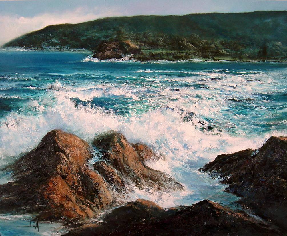 Marina con espuma de mar juan carlos alvaro saenz for Cuadros de marinas