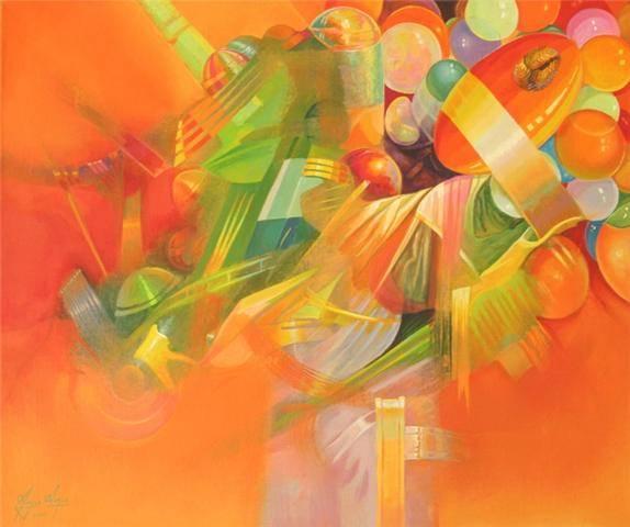 Pi�ata con globos - Angel Abreu