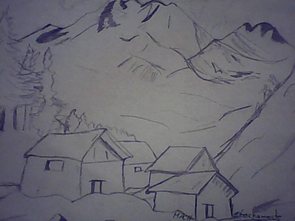Dibujos De Paisajes A Lapiz Faciles