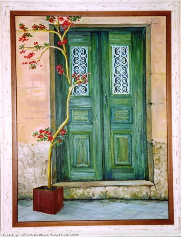Puerta vieja 1 m angeles rodr guez d az for Pintura de tiza para puertas