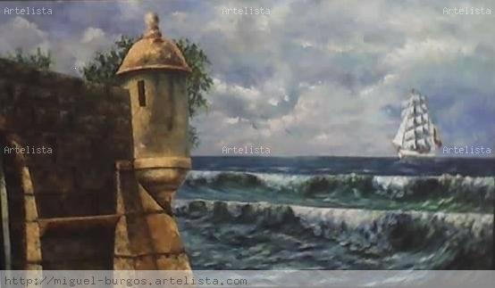 Desde las murallas de cartagena miguel francisco burgos ramos - Pintores en cartagena ...
