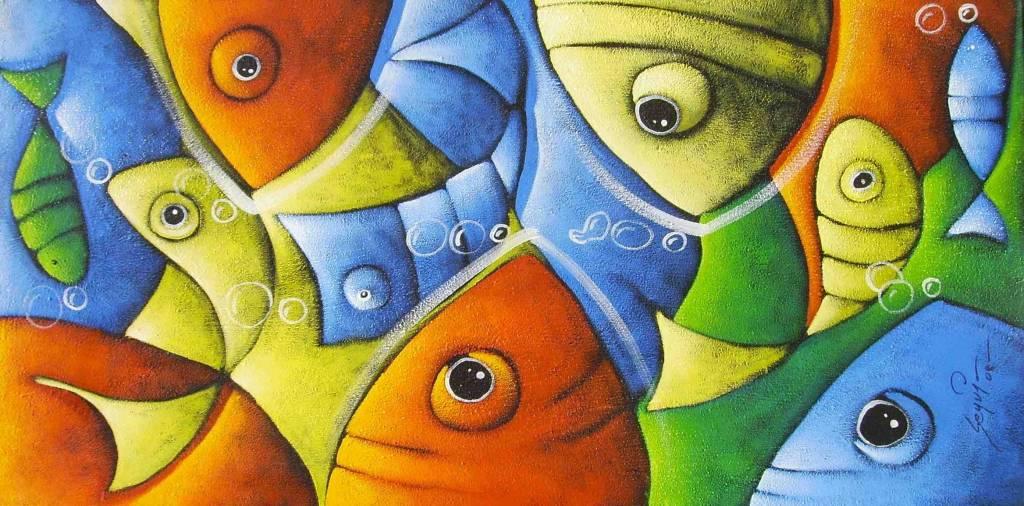 Peces colores patricio correa artgallery for Cuadros con peces