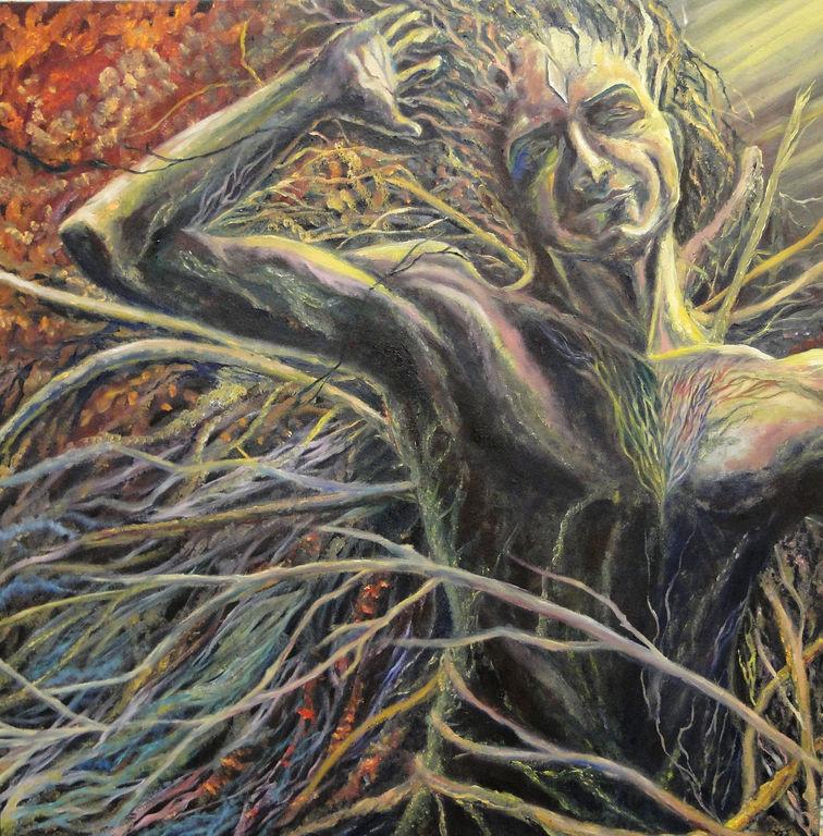 joyous unity oil canvas figure painting